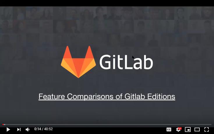 gitlab Enterprise features comparison